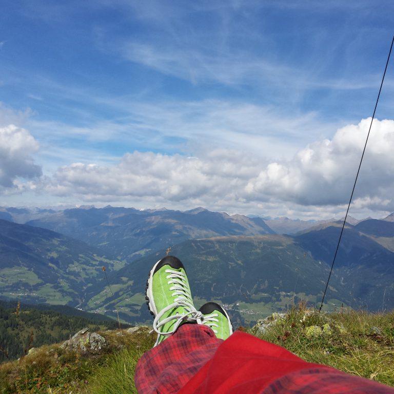 Auf der Gatterspitze mit Blick nach Sillian im wunderschönen Osttirol